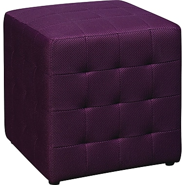 Office Star Avenue Six® Detour 15in. Fabric Cube, Purple