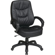 Office Star WorkSmart™ Eco Leather Deluxe High Back Executive Chair, Black