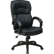 Office Star WorkSmart™ Eco Leather Executive Chair, Black