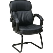 Office Star Worksmart Metal Guest Chair, Black (EC9235-EC3)