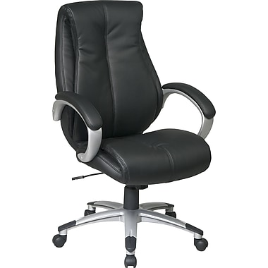Office Star WorkSmart Eco Leather Executive Chair with Padded in.Cin. Arms