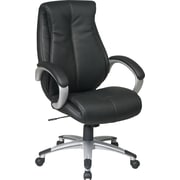 Office Star High Back Executive Black Eco Leather Office Chair, Black