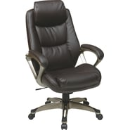 Office Star WorkSmart™ Eco Leather Executive Chair with Headrest, Espresso