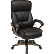 Office Star WorkSmart™ Eco Leather Executive Chair with Coil Spring Seating Comfort, Espresso