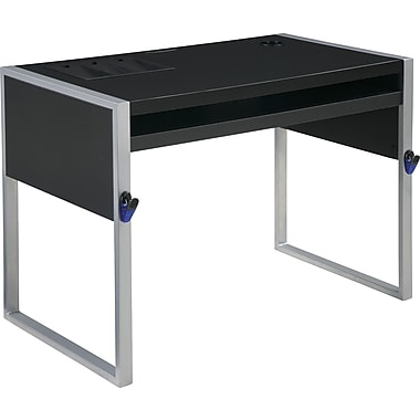 Office Star OSP® Designs Elara Reversible Top Computer Desk, Silver / Black