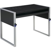 Office Star ELA2542SB Writing Desk, Silver/Black