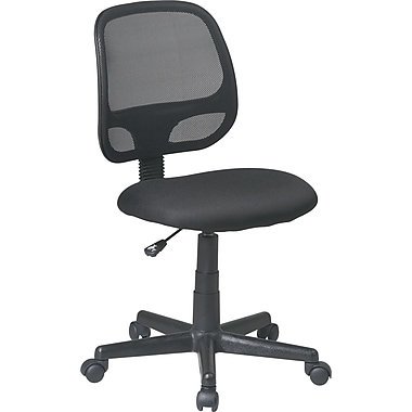 Office Star Medium High Screen Back Fabric Task Chair, Black