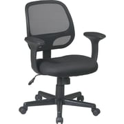 Office Star WorkSmart™ Mesh Fabric Task Chair with T-Arm, Black