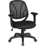 Office Star Mid-Back Mesh Manager's Chair, Fixed Arm, Black