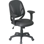 Office Star WorkSmart™ Mesh/Urethane Screen Back Manager Chair, Black
