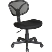 Office Star Screen Back Fabric Task Chair, Black