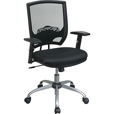 Office Star WorkSmart™ Mesh Fabric Task Chairs and Silver Finish Base, Silver