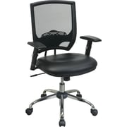 Office Star WorkSmart™ Faux Leather Task Chair with Headrest, Black