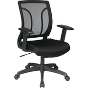 Office Star EM50727-3 Work Smart Mesh Task Chair with Adjustable Arms, Black
