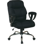 Office Star WorkSmart™ Executive Big Man's Chair, Black