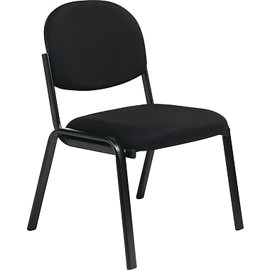 Office Star WorkSmart™ Fabric Armless Guest Chair, Black