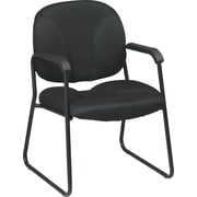 Office Star Worksmart Metal Executive Guest Chair, Black (EX3302-231)