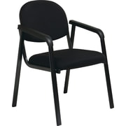 Office Star Worksmart Steel Guest Chair, Black (EX35-231)