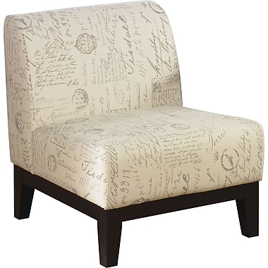 Office Star Avenue Six® Fabric Glen Chair, Script