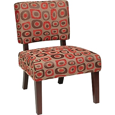 Office Star Avenue Six® Wood Jasmine Accent Chair, Twilight Red