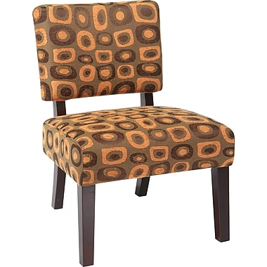 Office Star Avenue Six® Wood Jasmine Accent Chair, Twilight Rust