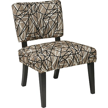 Office Star Avenue Six® Wood Jasmine Accent Chair, Web Earth