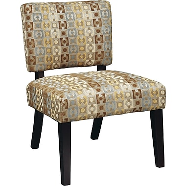 Office Star Avenue Six® Wood Jasmine Accent Chair, Geo Java