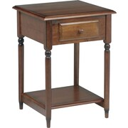 "Office Star Knob Hill 27 1/2"" H x 19'' W x 19 1/2'' D Veneers and Solid Wood Accent Table, Cherry"