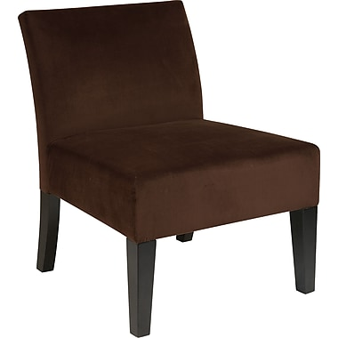 Office Star Avenue Six® Wood Laguna Accent Chair, Brushed Chocolate