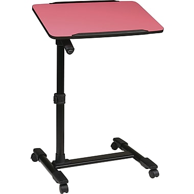 Office Star OSP® Designs Steel Mobile Laptop Cart, Pink