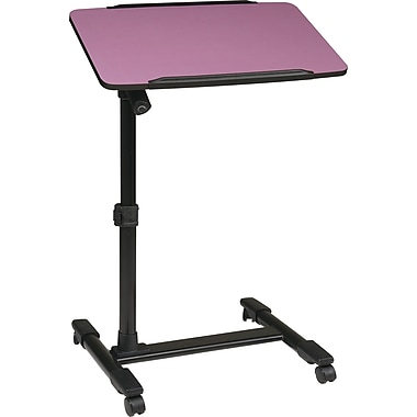 Office Star OSP® Designs Steel Mobile Laptop Cart, Purple