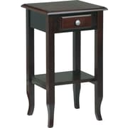 Office Star WorkSmart™ 29'' H x 17'' W x 15 D Veneers and Solid Wood Telephone Table, Merlot