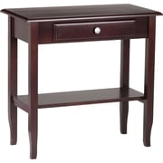 Office Star WorkSmart™ 29''H x 30''W x 15''D Veneers and Solid Wood Foyer Table with Drawer, Merlot