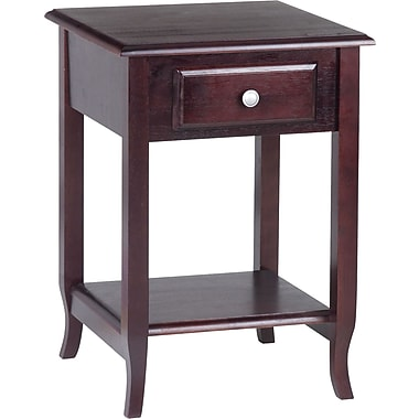 Office Star OSP® Designs 27'' H x 19'' W x 20'' D Veneers and Solid Wood Accent Table, Merlot