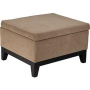 Office Star Avenue Six® Fabric Merge Storage Ottoman, Easy Brownstone