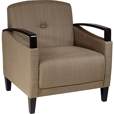 Office Star Ave Six Main Street Fabric Accent Chair, Woven Seaweed (MST51-S22)
