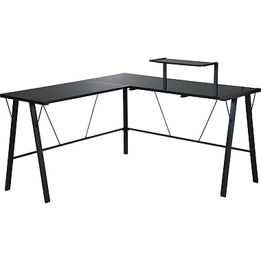 Office Star Orion L-shaped Desk, Black