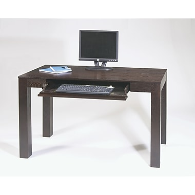 Office Star Avenue Six® Solid Wood and Wood Veneers Plaza Desk, Espresso