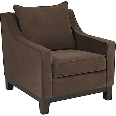 Office Star Avenue Six® Fabric Regent Chair, Easy Walnut