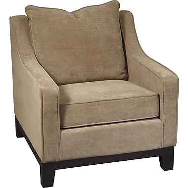 Office Star Avenue Six® Fabric Regent Chair, Easy Brownstone