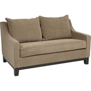 Office Star Avenue Six® Regent Loveseat, Easy Brownstone