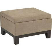 Office Star Avenue Six® Fabric Regent Storage Ottoman, Brownstone