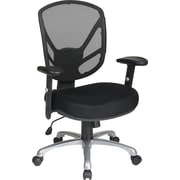Office Star WorkSmart Mesh Conference Office Chair, Adjustable Arms, Black (S2721-3)