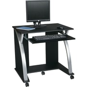 Office Star SAT117 Computer Desk, Black/Silver