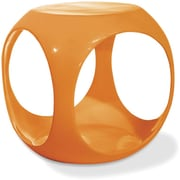 Office Star Avenue Six® 17H x 15 1/2W x 15 1/2D Fiberglass Resin Slick Cube Occasional Table, Orange