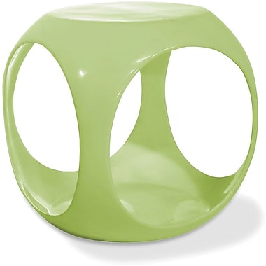 Office Star Avenue Six® 17H x 15 1/2W x 15 1/2D Fiberglass Resin Slick Cube Occasional Table, Green