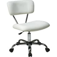 Office Star Avenue Six® Vinyl Vista Task Office Chair, White