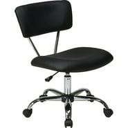 Office Star Avenue Six® Vinyl Vista Task Office Chair, Black
