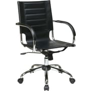Office Star Avenue Six® Vinyl Trinidad Office Chair, Black