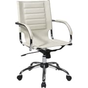 Office Star Avenue Six® Vinyl Trinidad Office Chair, Cream